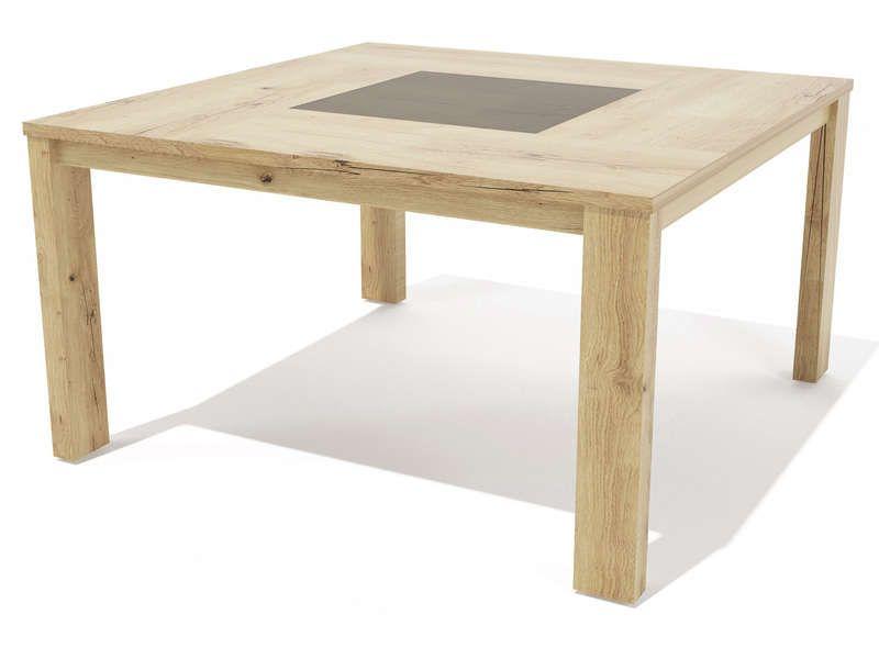 Table Carree 140 Cm Mimesis Coloris Chene Sauvage Vente De Table Conforama Table Table Carree Chene