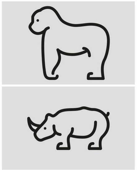 animales un solo trazo