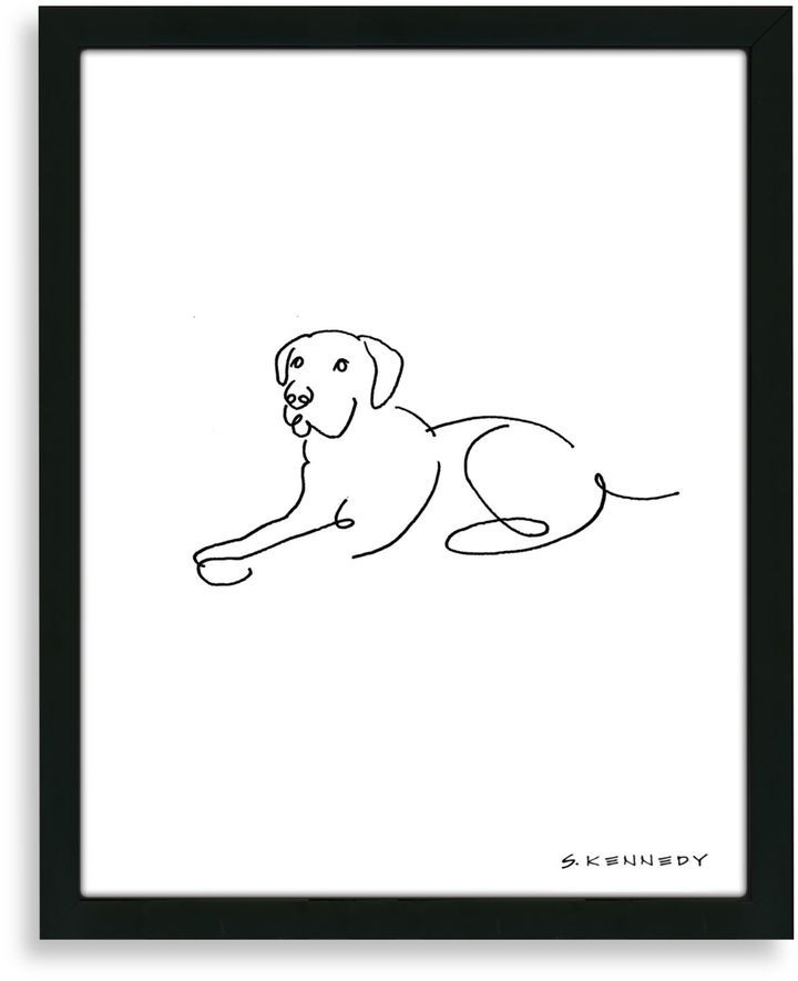 Bed Bath Beyond Framed Labrador Retriever Line Drawing On