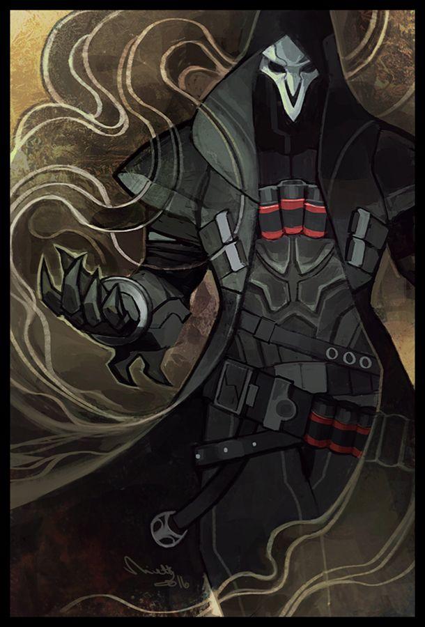 Overwatch Reaper (Gabriel Reyes) art by theminttu on Tumblr