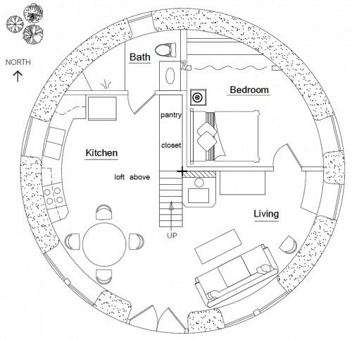 Earthbag Building Hobbit House Plan Natural Living Pinterest