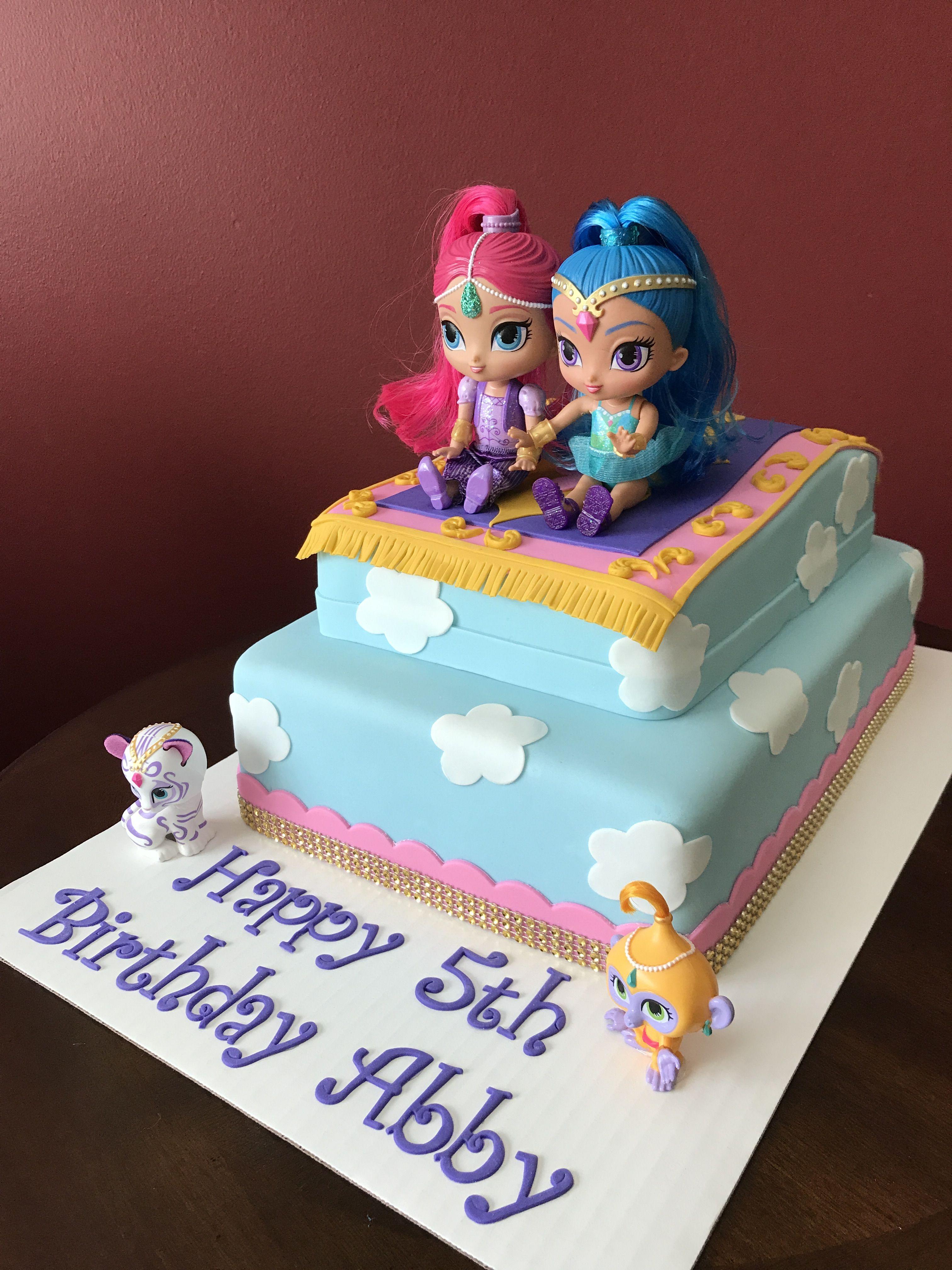 Shimmer And Shine Birthday Cake Cake Decorating Pinterest