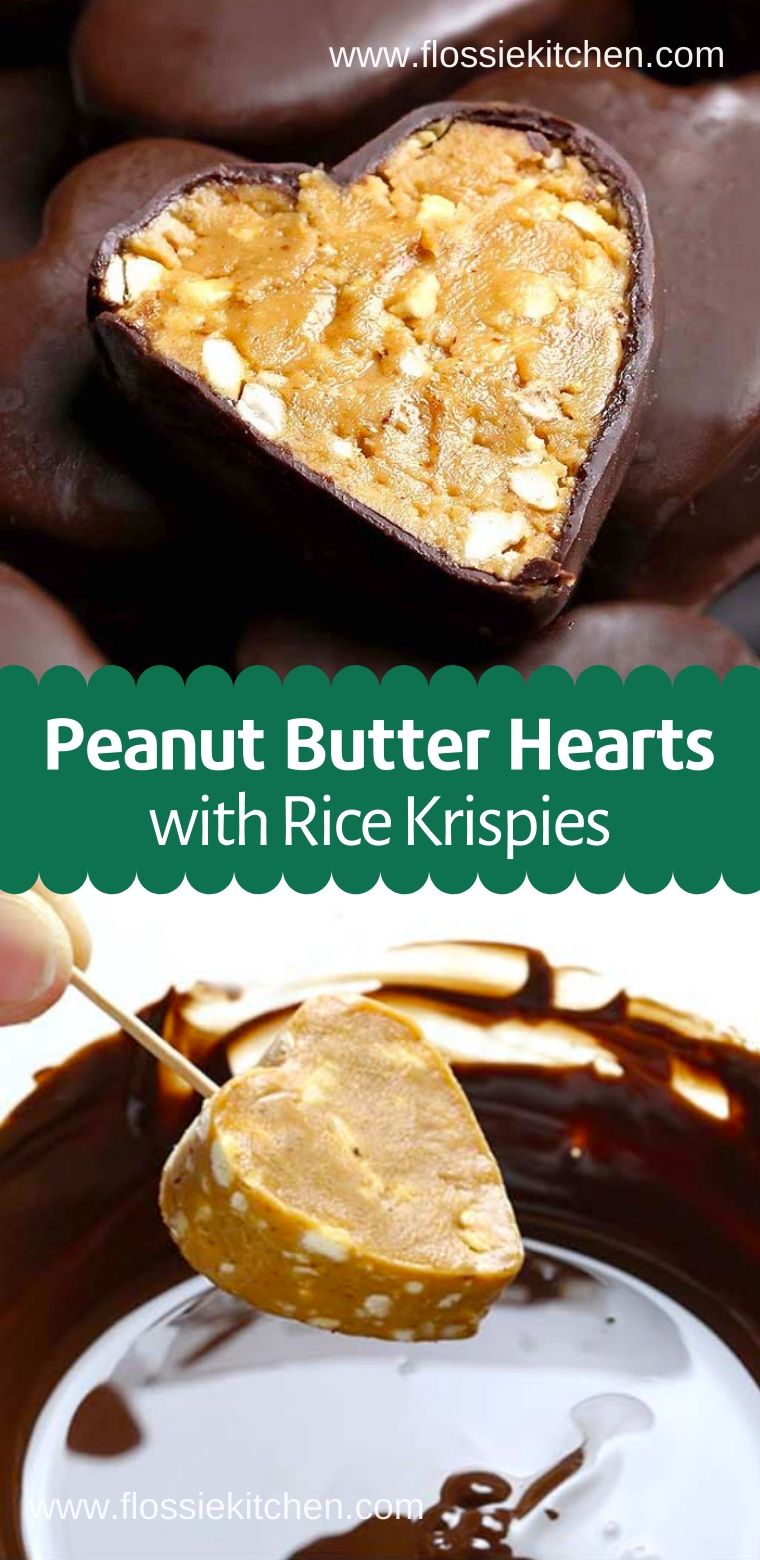 Easy Valentines Peanut Butter Hearts With Rice Krispies