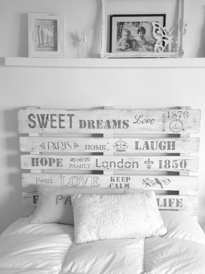 Palets | Cabeceros Reciclados - Recycled headboards | Pinterest ...