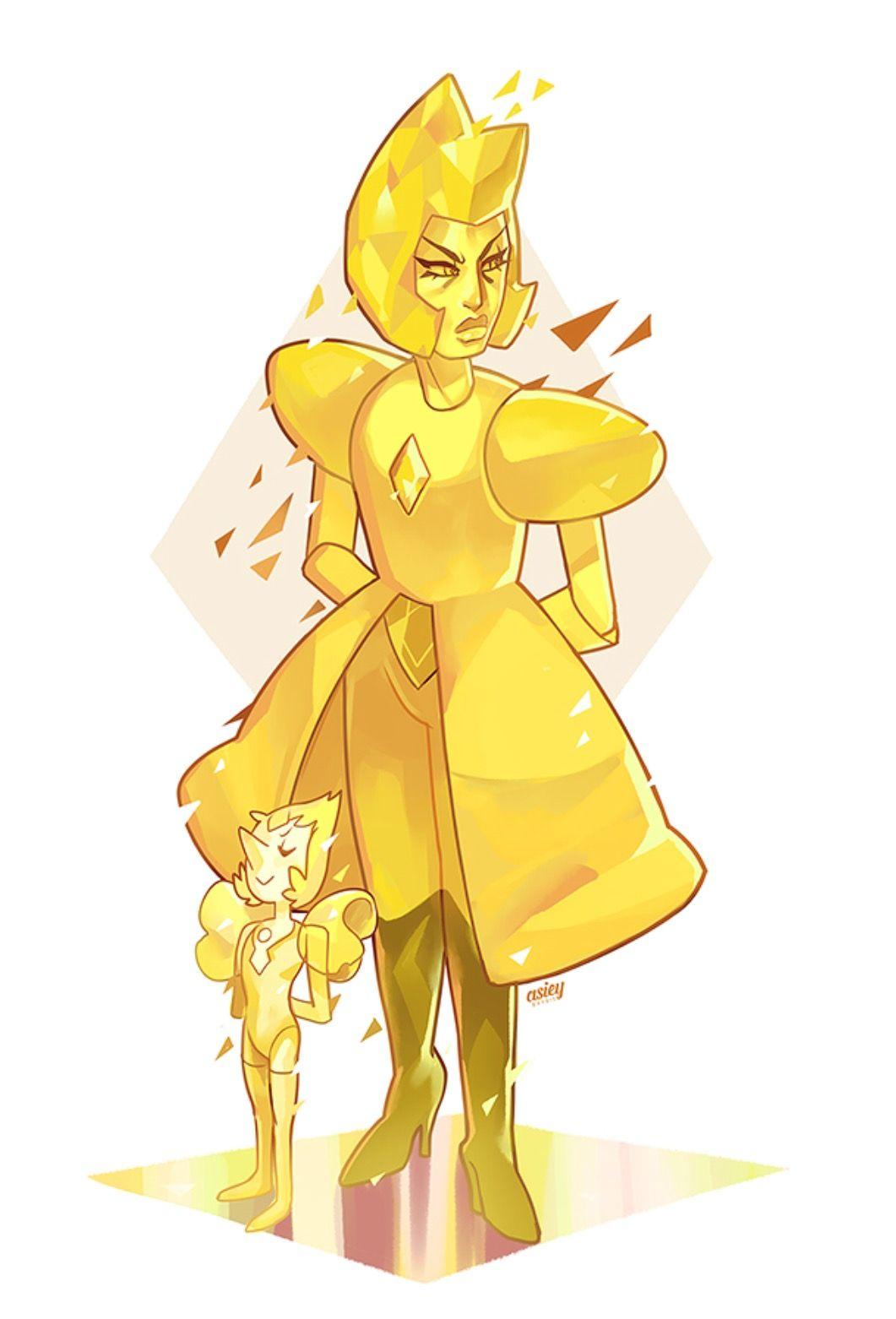 Yellow Yellow Diamond Su, Yellow Pearl, Diamond Art, Gold Pearl, Perla  Steven