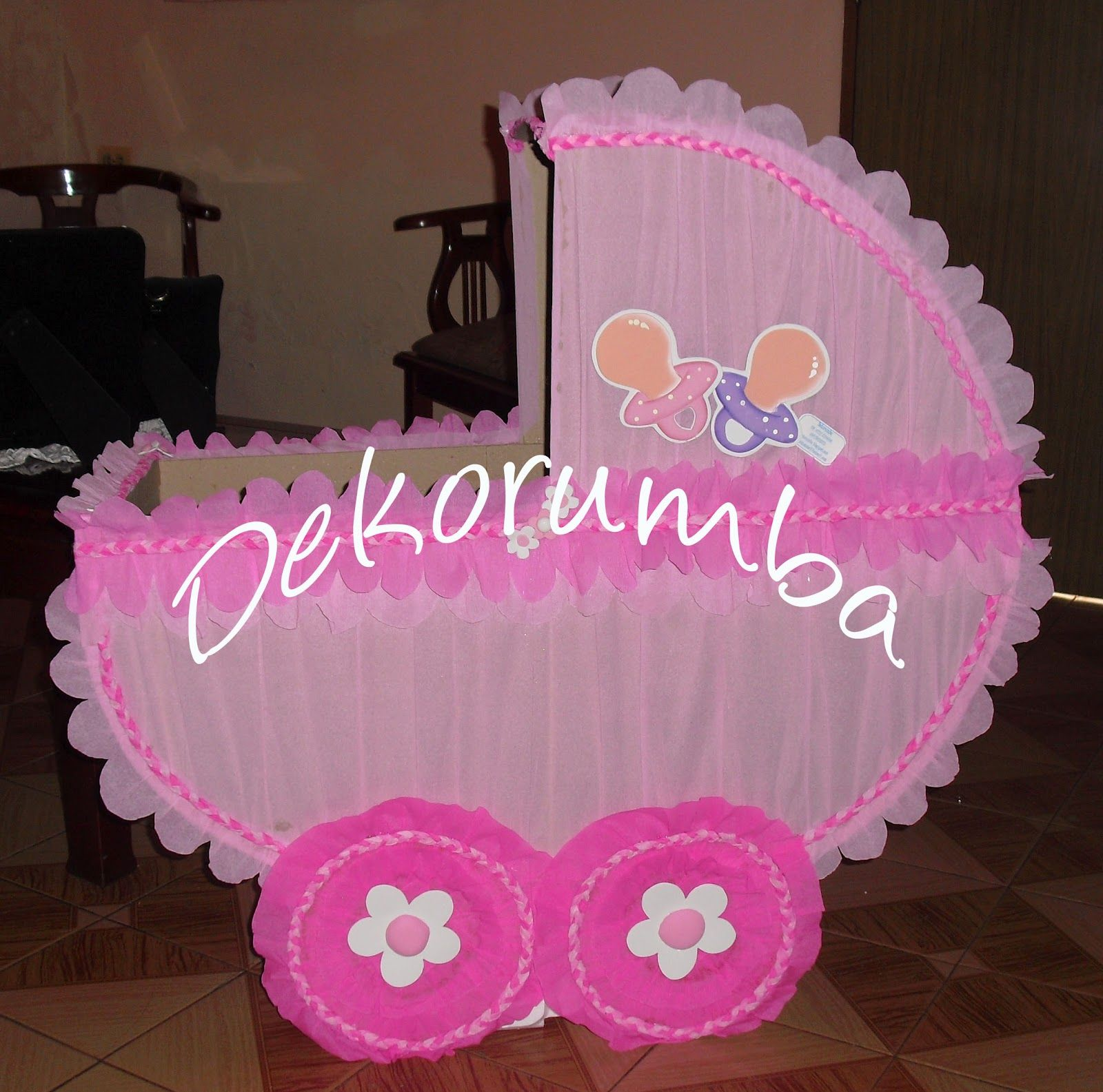 Cuna de caja para baby shower - Imagui | Cajas de Regalos para ...
