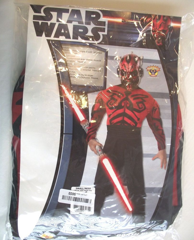 Darth Maul Star Wars Muscle Chest Child Costume Size Small 4-6 NO MASK Halloween & Darth Maul Star Wars Muscle Chest Child Costume Size Small 4-6 NO ...