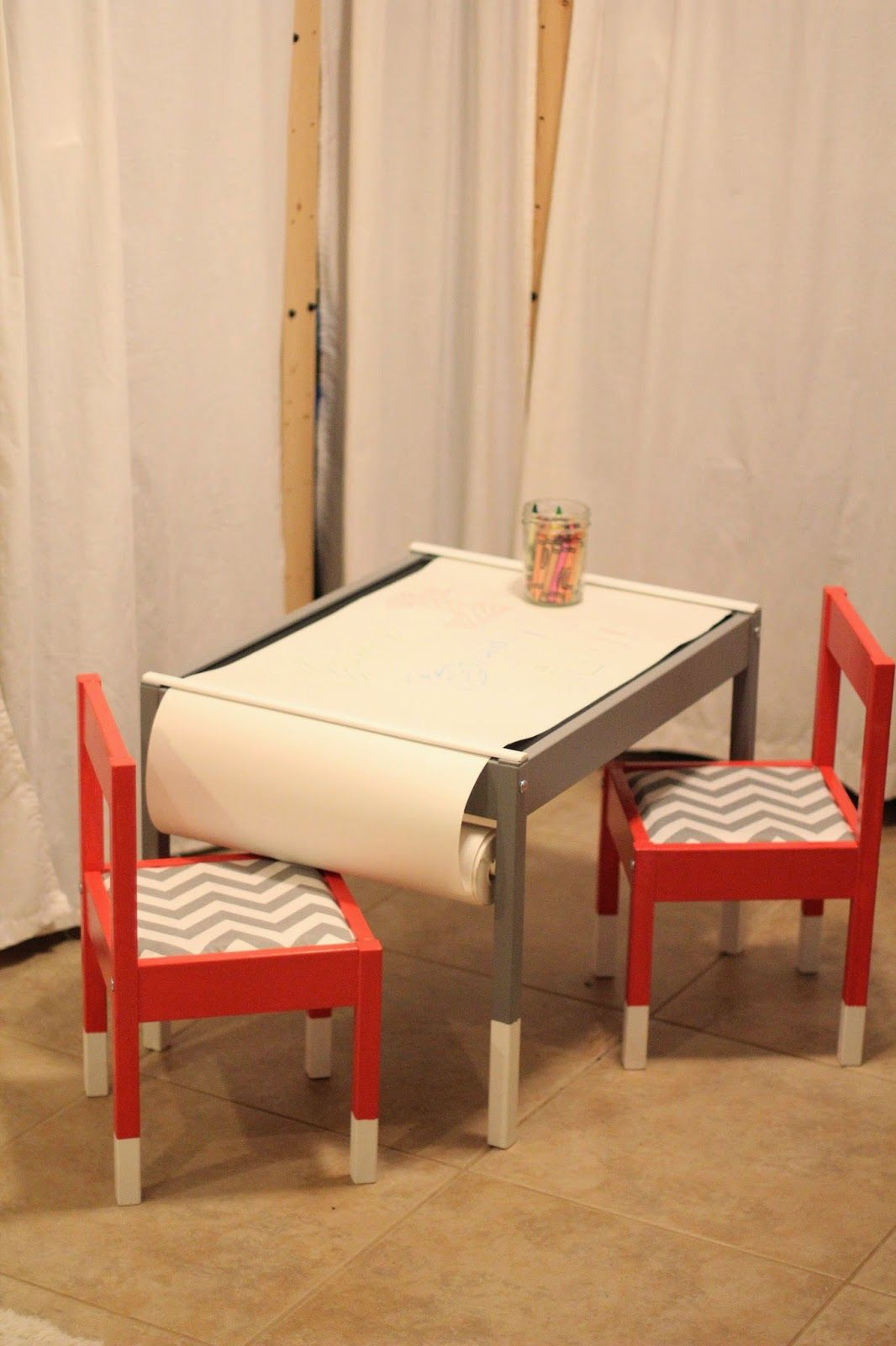 { DIY } Ikea Lätt Hack: Add A Paper Roll + 2 Pieces Of Trim · Ikea Kids  TableIkea ...