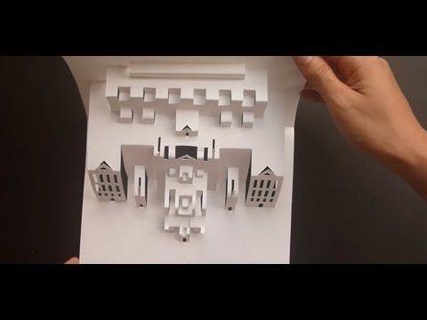 Youtube Origami Architecture Card Tutorial Origami