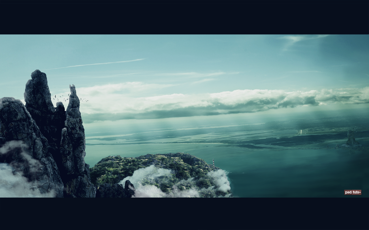 Matte painting psd files tutoriels de matte painting matte in todays premium tutorial we will learn how to use matte painting techniques to create a beautiful landscape from several stock photos using photoshop baditri Gallery