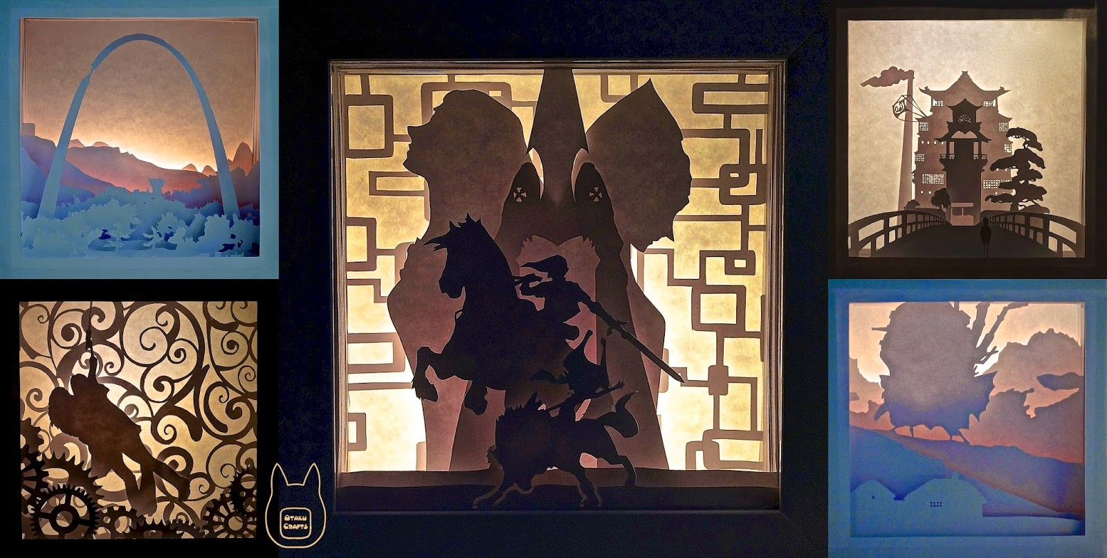 DIY Paper Lightboxes (Zelda, Studio Ghibli & More) - with templates ...