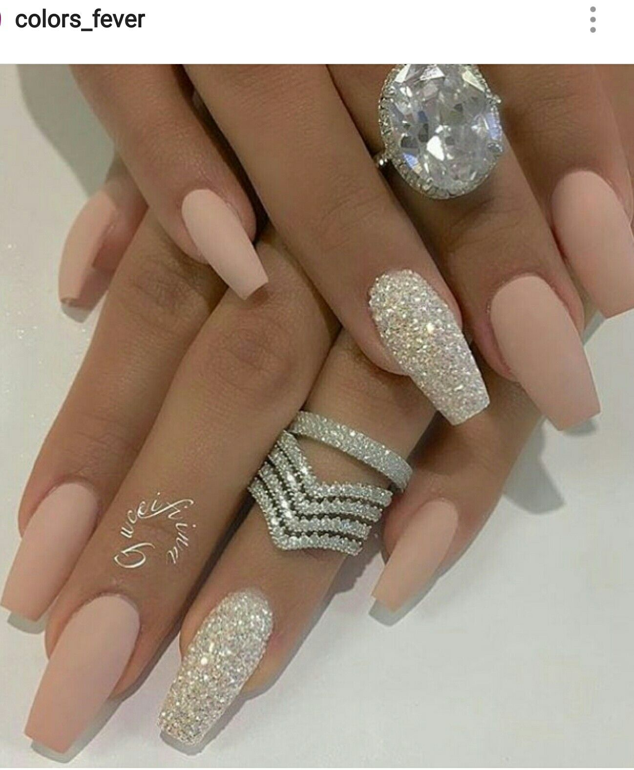 Matte Nail Salon Near Me : matte, salon, Please, Follow, @SlayBeauty101, Awesome, Pins!, Matte, Nails, Design,, Bling, Nails,