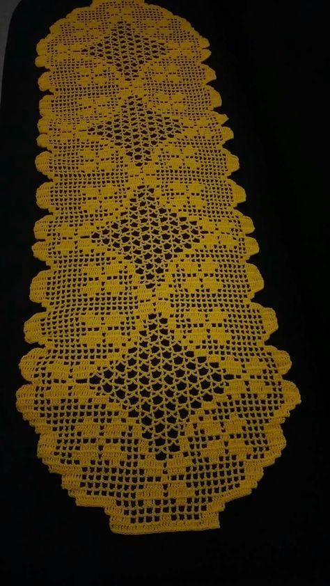 Caminho De Mesa Croche File Fe Com Imagens Caminho De Mesa De