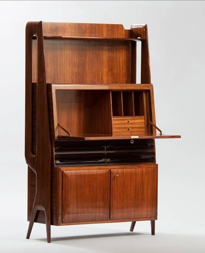 Mid Century Modern Rosewood Secretary Cabinet By Ico Parisi