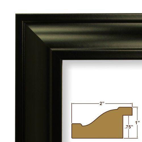 Craig Frames 21834700bk 11x14 Picture Poster Frame Smooth Finish 2 Inch Wide Black By Craig Frames Inc Poster Frame Craig Frames High Quality Picture Frames