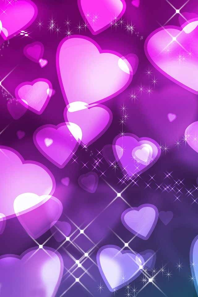 Purple Hearts purple background light purple | Art ...
