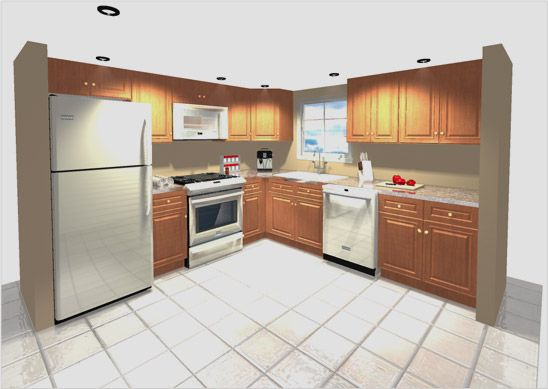 Standard 7' X 9' L Shaped Kitchen - Google Search