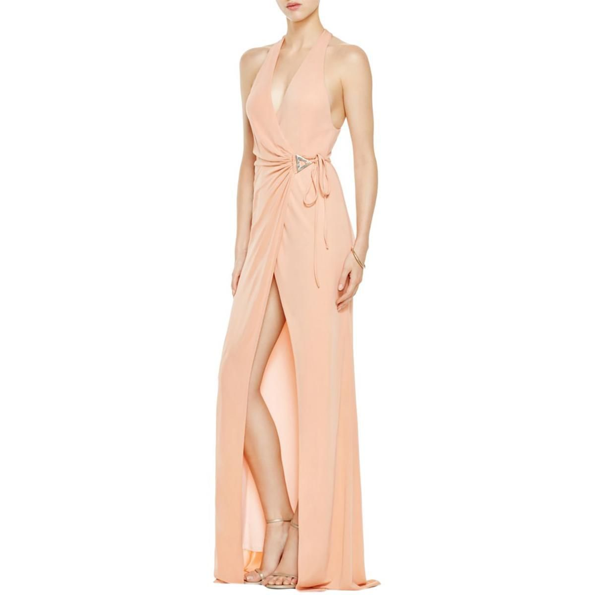 Womens wrap halter evening dress products