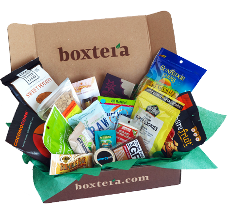 Boxtera monthly subscriptions of natural, healthy