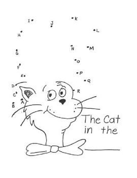 Cat Alphabet Dot to Dot | kindercenter | Pinterest | Klasse und Kind