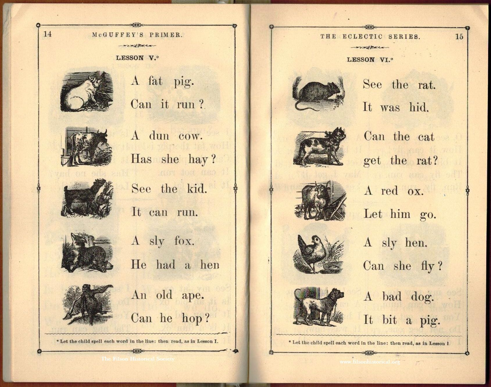 Mcguffey S Pictorial Eclectic Primer Eclectic Educational