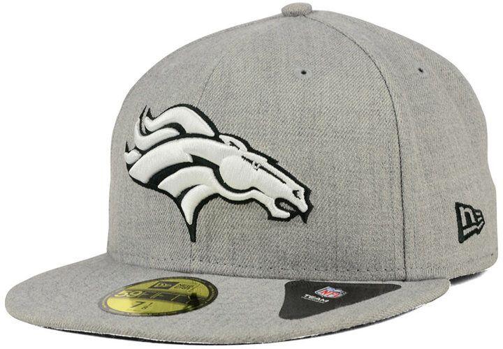57d2b0c69 New Era Denver Broncos Heather Black White Fitted Cap - Sports Fan Shop By  Lids - Men - Macy s