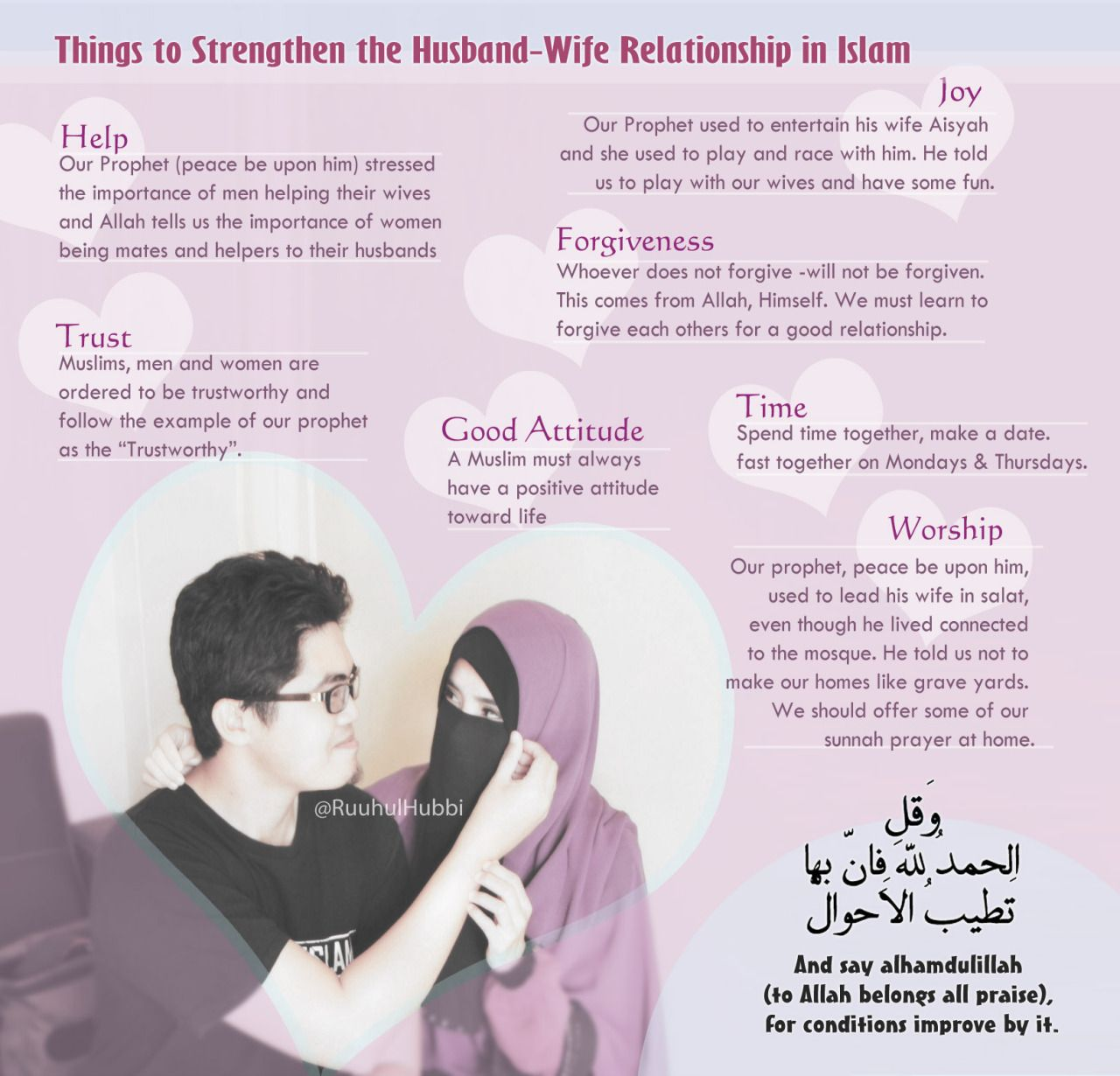 Things To Strengthen The Husband-wife Relationship In