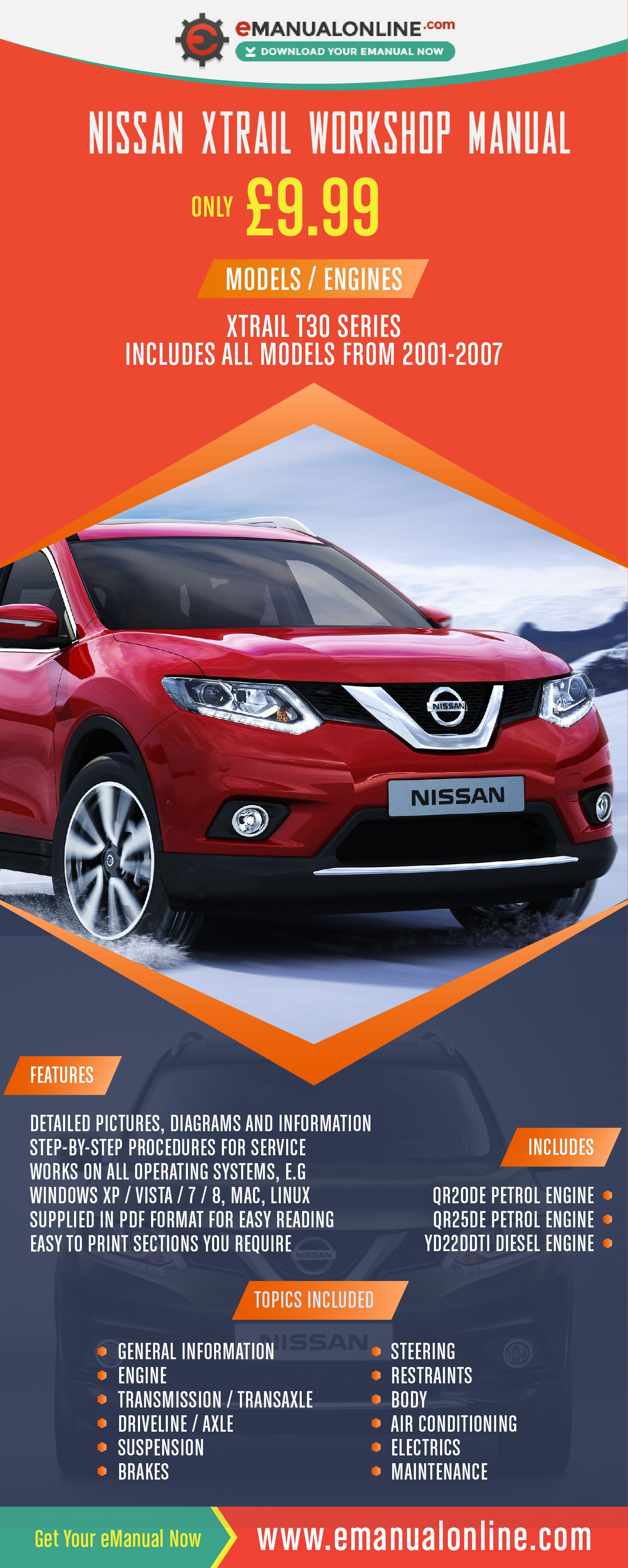 nissan xtrail workshop manual this is the official workshop repair rh pinterest com