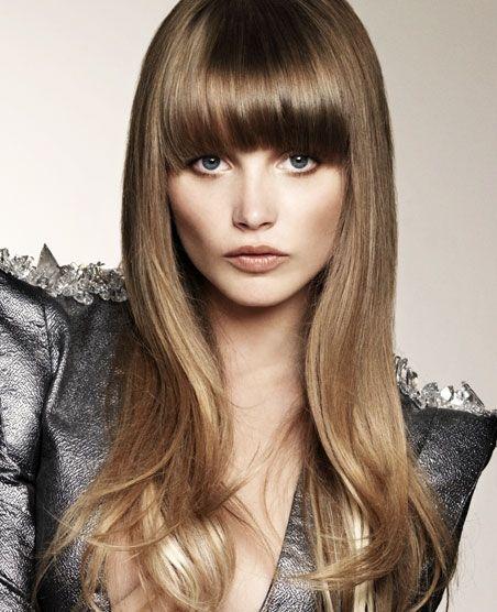 2013 Hairstyles For Long Hair With Bangs Round Face Lange Haare Mit Pony Haar Pony Frisuren Langhaar