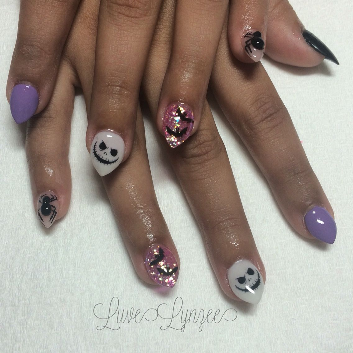 Halloween nails, Acrylic Nails, Stiletto Nails, Coffin Nails, Almond ...