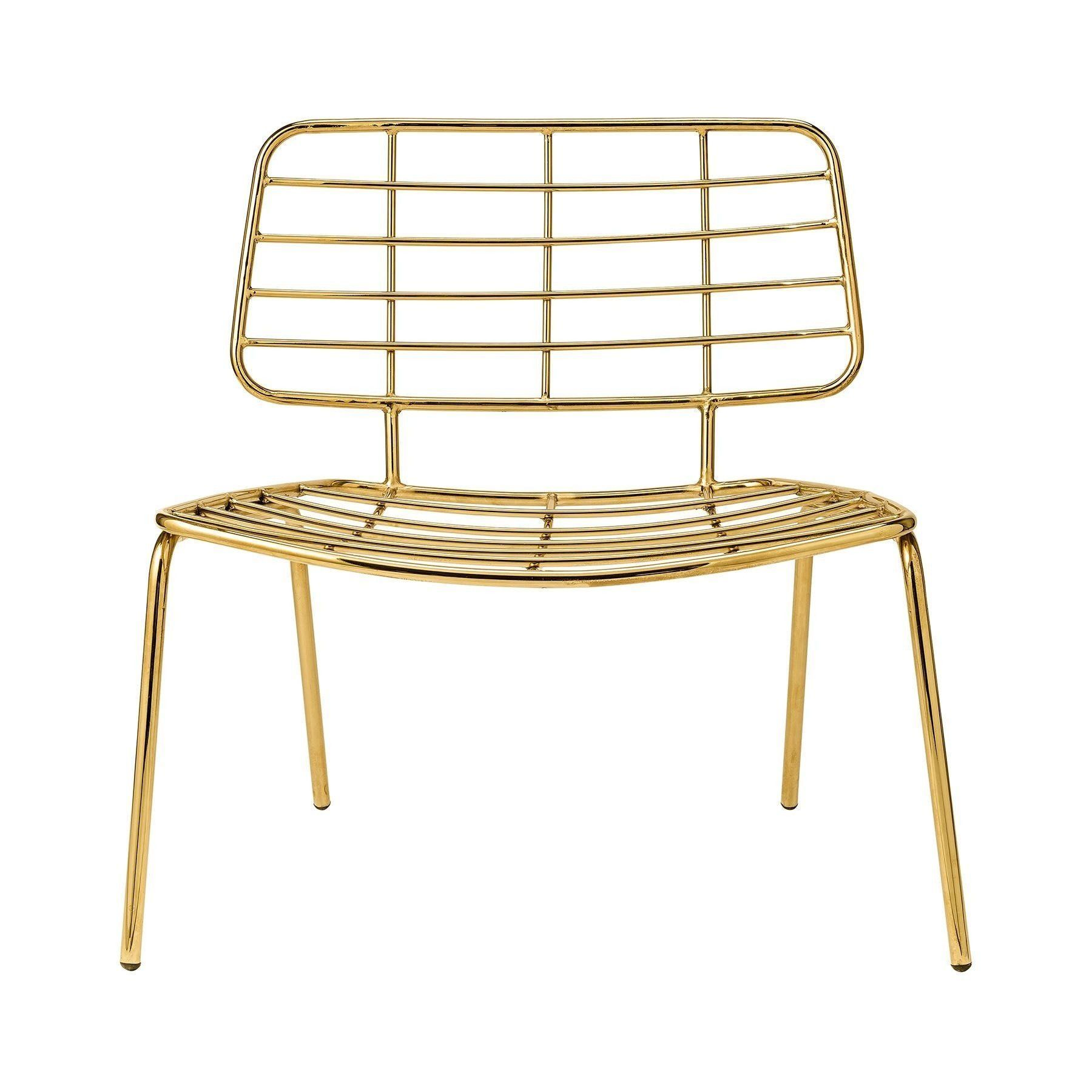 Football Sessel Bloomingville Mesh Lounge Sessel Ambientedirect Gold