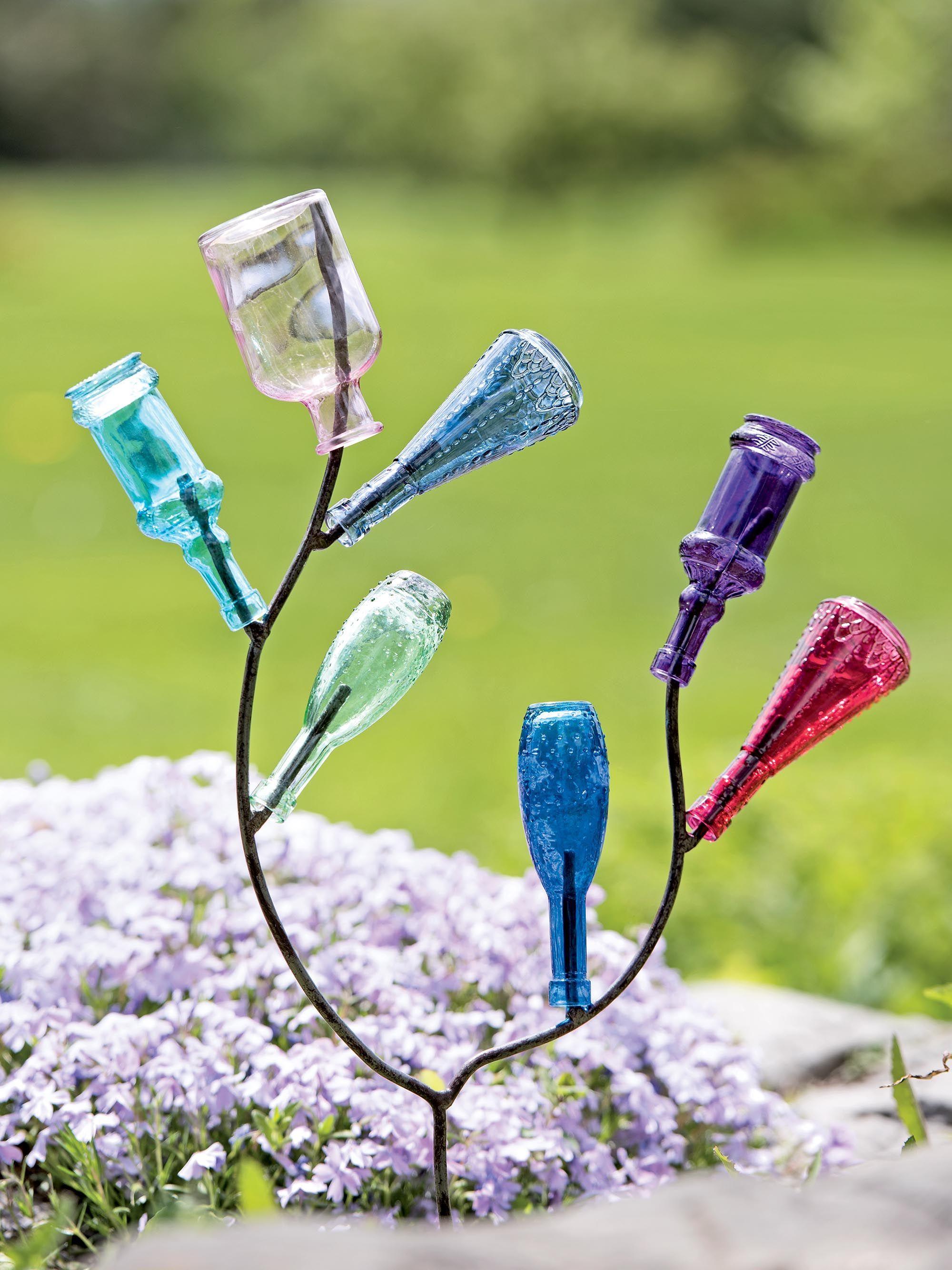 Mini Bottle Tree - Bottle Tree - Small Bottle Tree | Crafts ...