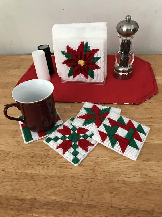 Plastic Canvas Mug Rugs Patterns Free