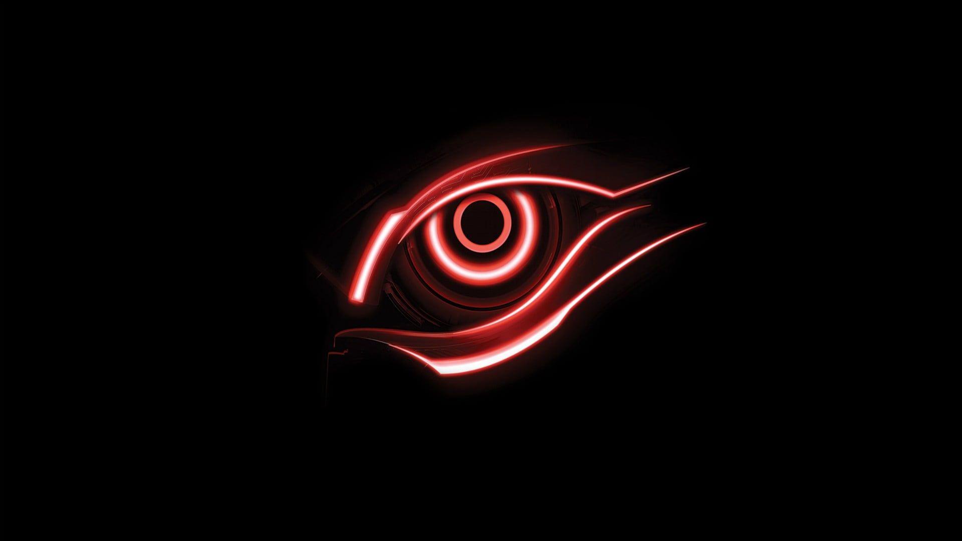 Red Halo Headlight Wallpaper Eye Illustration Eyes Black Background Eyes Wallpaper Eye Illustration Red And Black Wallpaper