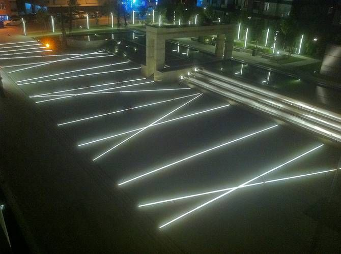 Exterior site lighting pinterest landscape architecture Exterior linear led lighting