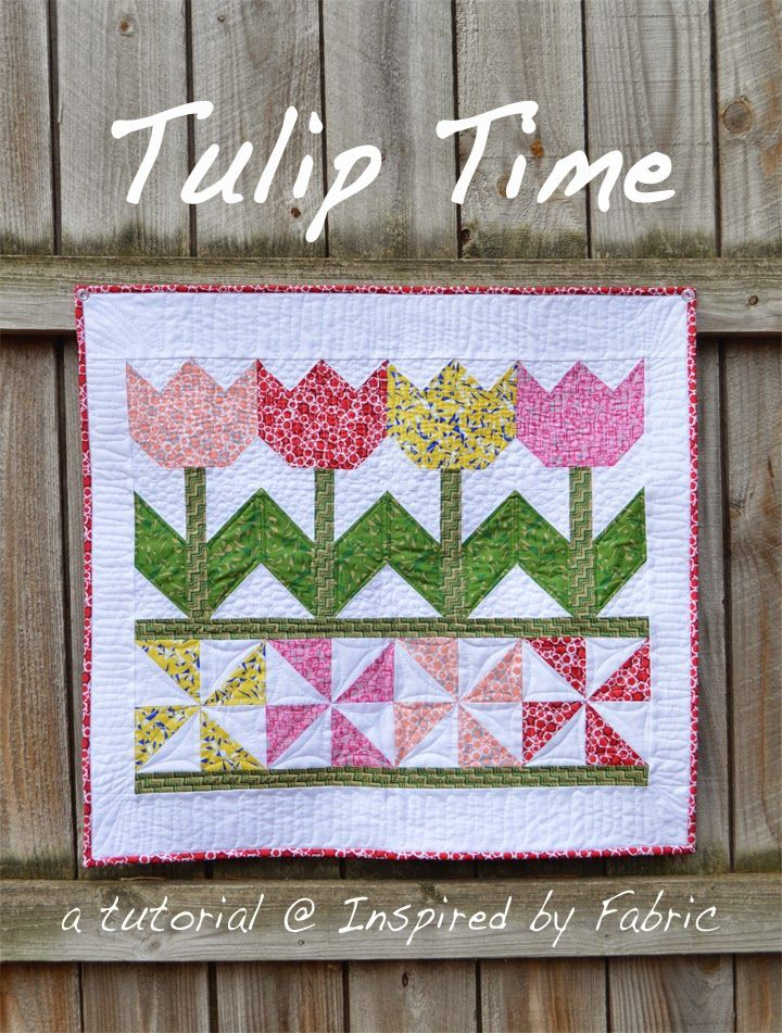 Wall Hanging Quilts tutorial: tulip time wall hanging (inspiredfabric) | tutorials