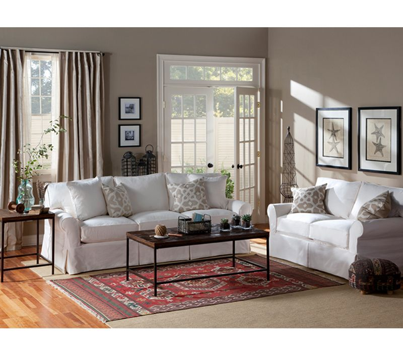 Hadley Slipcover Sofa   Boston Interiors; Dream Living Room