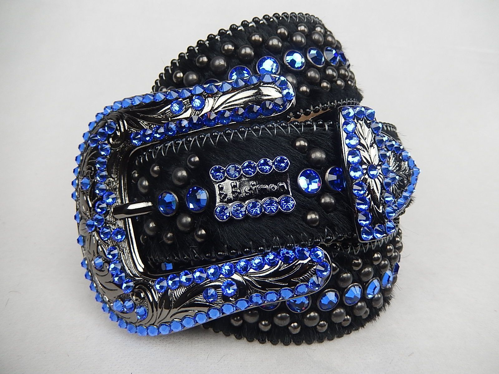 1d7515e7a0fc B.B. Simon   Sapphire Royalty  Swarovski Crystal Belt