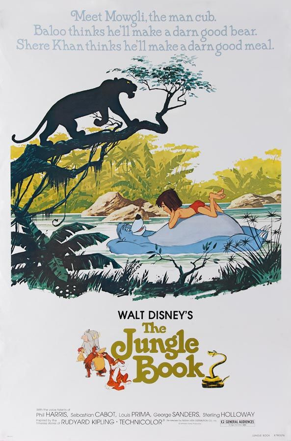 Throwback The Jungle Book posters for all your nostalgia needs.