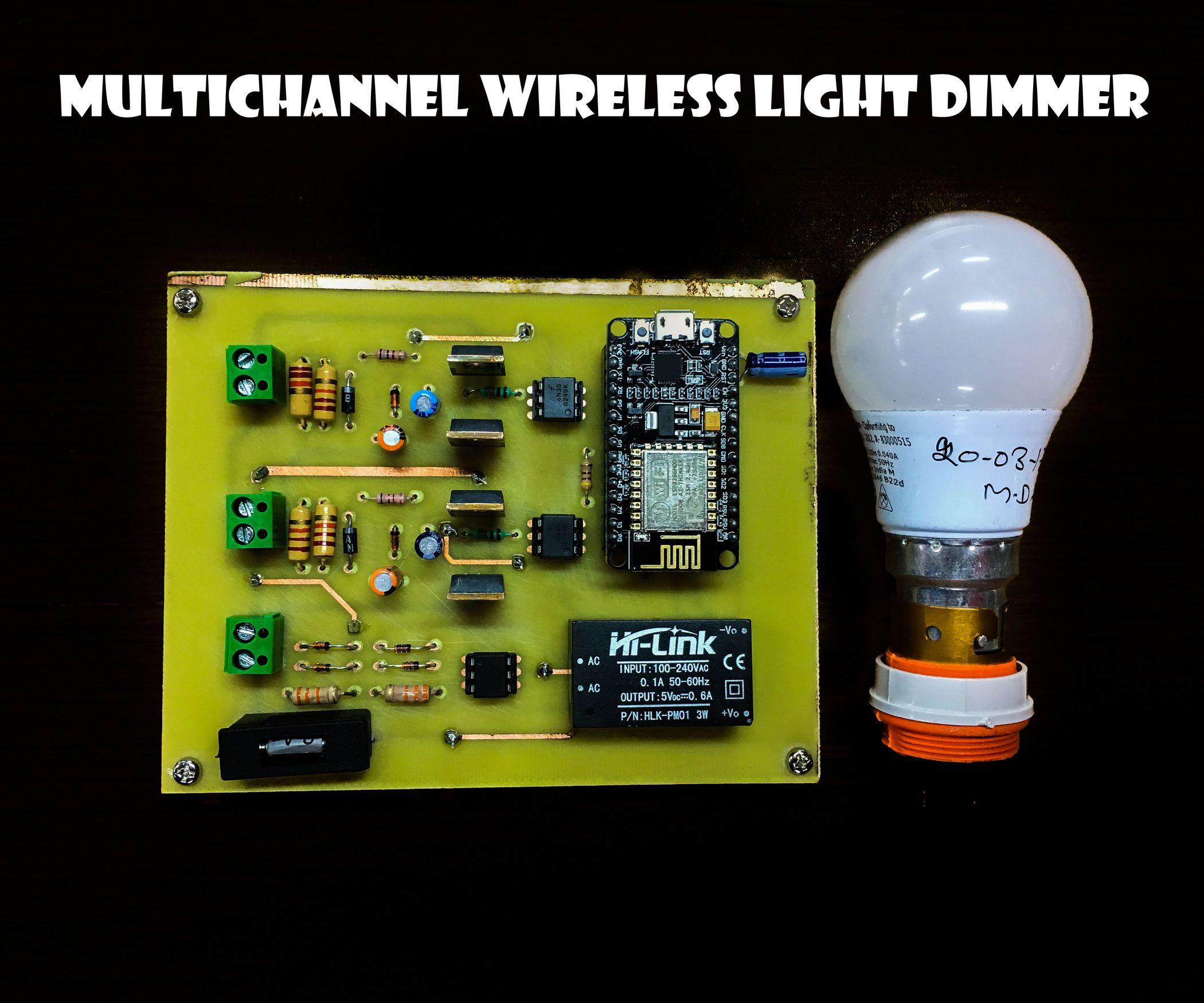 Multichannel Wireless Light Dimmer Wireless Lights Dim Lighting Dimmer