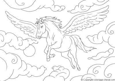 coloriage cheval pour adulte - Coloriage De Cheval