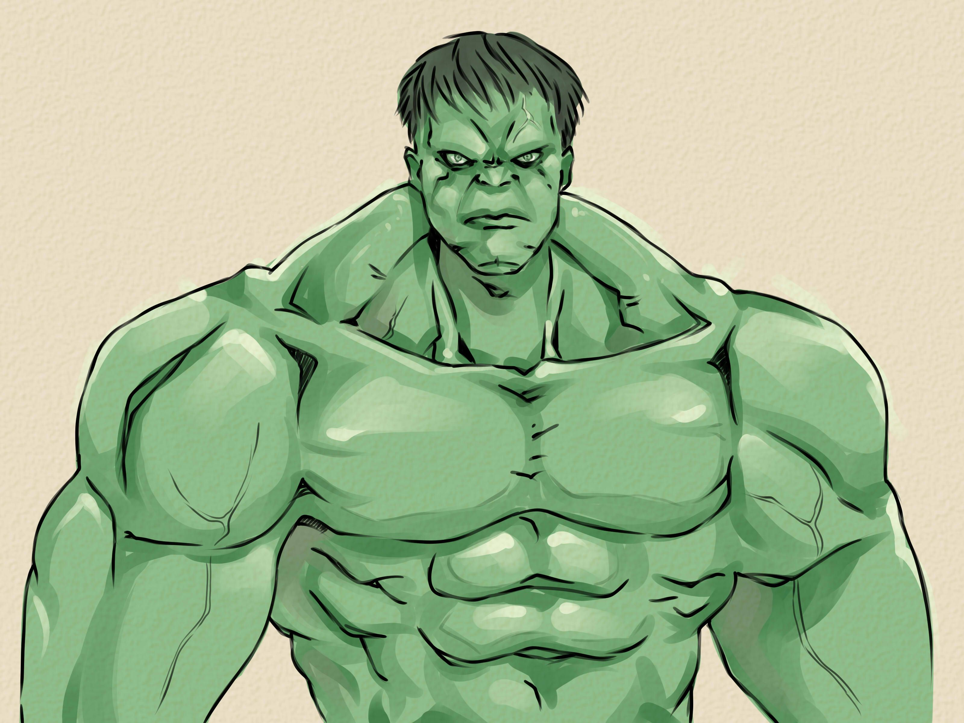 Easy Hulk Drawings How to Draw the Incred...