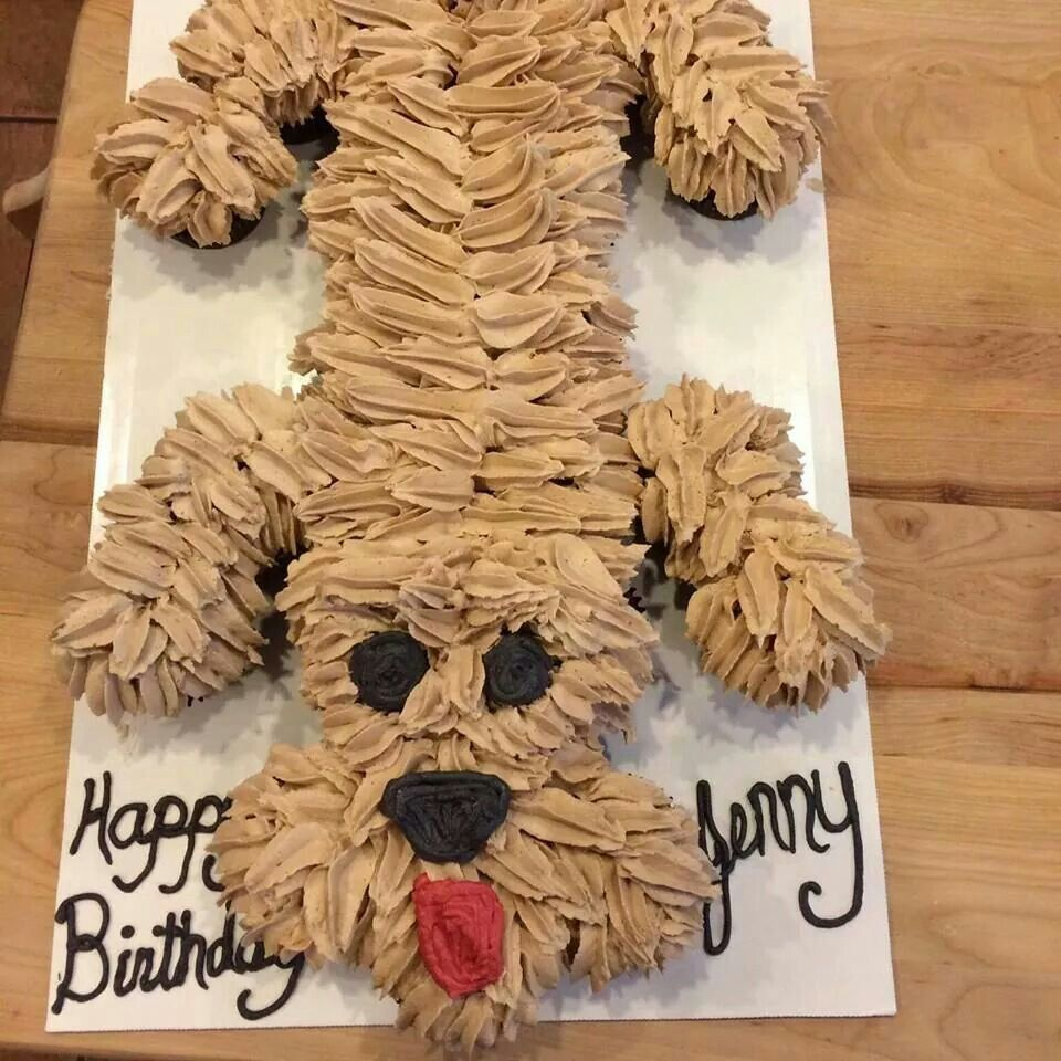 Puppy pull apart cupcake cake ideas cupcakes pinterest