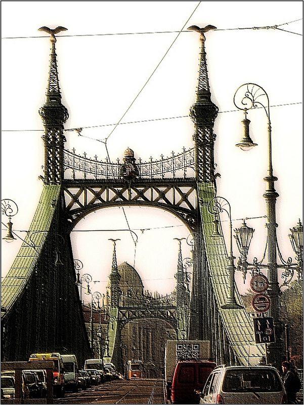 Szabadság híd /     Liberty Bridge- Budapest, Hungary