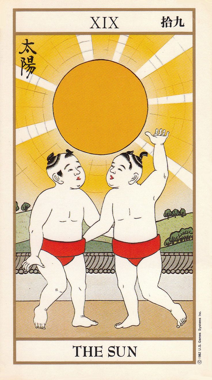 The Sun - Ukiyoe Tarot