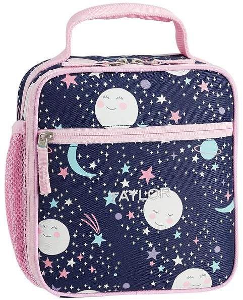 1f163b687f Pottery Barn Kids Mackenzie Pink Navy Glow In The Dark Moons Backpacks