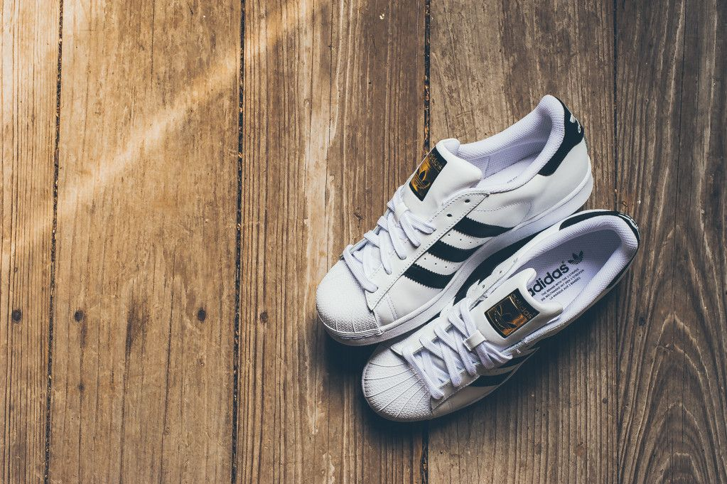 Adidas Superstar White And Black Gold