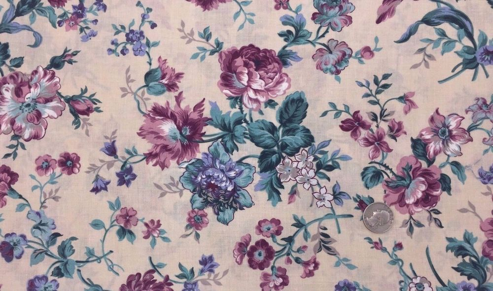 BTY GREEN FLORAL BLENDER COTTON FABRIC OOP