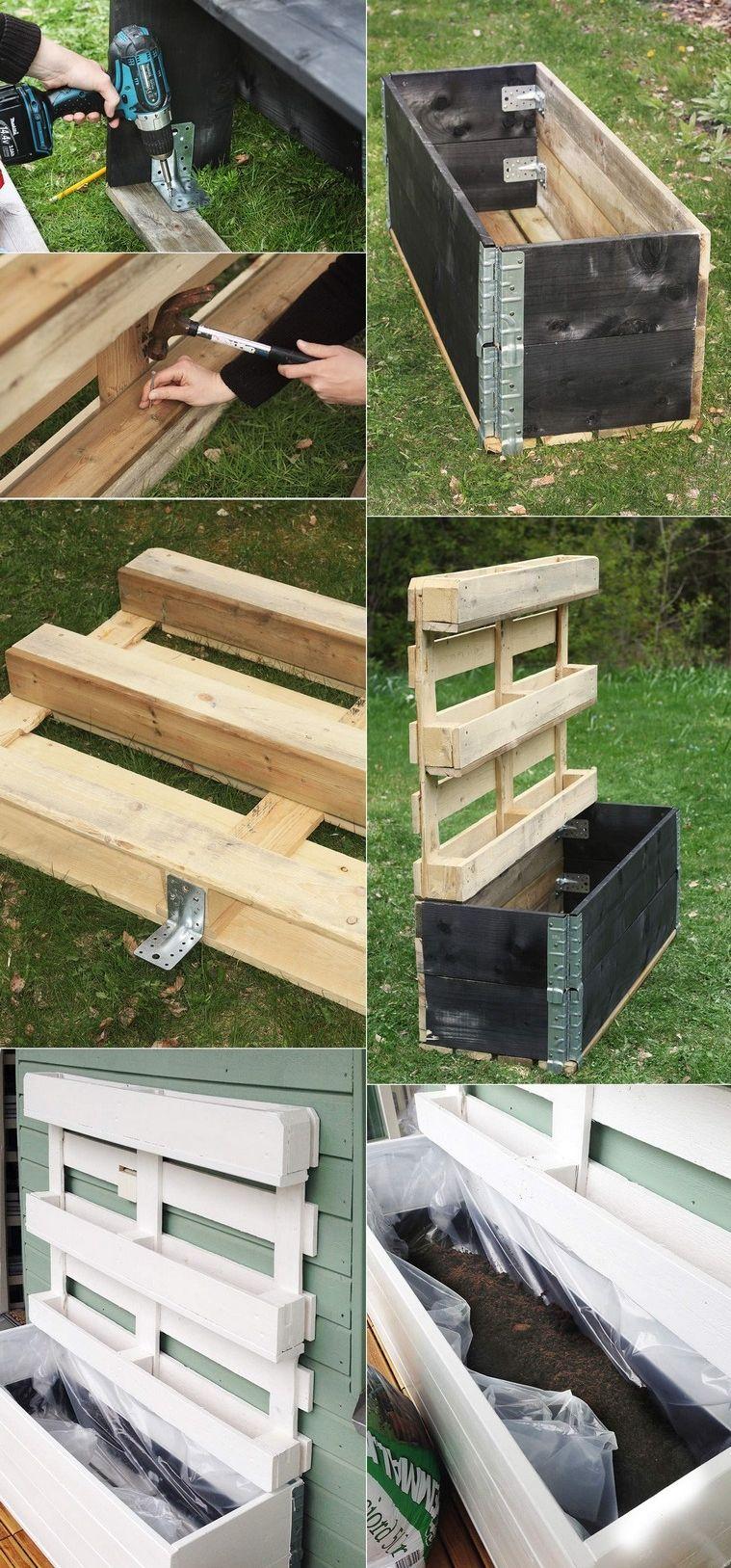 Fabriquer Une Jardiniere Verticale En Palette Bois Diy Palette Garden Vertical Pallet Garden Vertical Planter