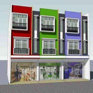 gambar desain ruko minimalis 3 lantai - rumah toko (2764